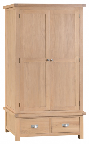 Lowestoft Oak Gents Wardrobe